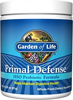 Garden of Life Whole Food Probiotic Supplement - Primal Defense HSO Probiotic Dietary Supplement for Digestive and Gut Hea...