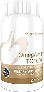 Designs for Health OmegAvail TG1000 - TG (Triglyceride) Fish Oil 1000mg Per Softgel (60 Softgels)