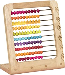 B. toys – Two-ty Fruity! Wooden Abacus Toy – Classic Wooden Math Game Toy for Early Childhood Education and Development wi...