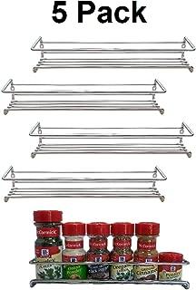 Premium Presents 5 Pack. Wall Mount Spice Rack Organizer for Cabinet. Spice Shelf. Seasoning Organizer. Pantry Door Organizer. Spice Storage. 12 x 3 x 3 inches Brand