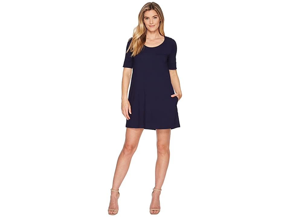 Lilla P Short Sleeve Dress (Navy) Women