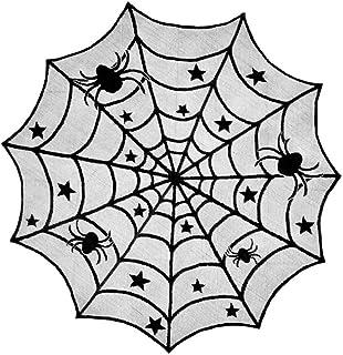 AMOYER Halloween-Dekoration-Schwarz-Spitze-Spinnen-Netz Props Kamin-Mantel-Schal-Tischdecke Abdeckung Halloween Horror Party Supplies
