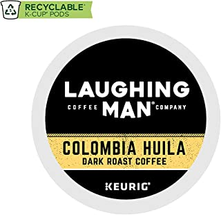 Laughing Man Colombia Huila, Keurig Single-Serve Recyclable K-Cup Coffee Pods, Hugh Jackman Dark Roast Arabica Coffee, For use with Keurig Coffee Makers (96-Count)