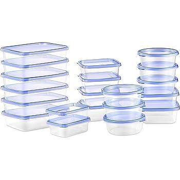 Deik Boîte Alimentaire, Lot de boîte de Conservation Alimentaire Plastique, 20 pièces, Convient pour Lave-Vaisselle allant au congélateur et au Four à Micro-Ondes