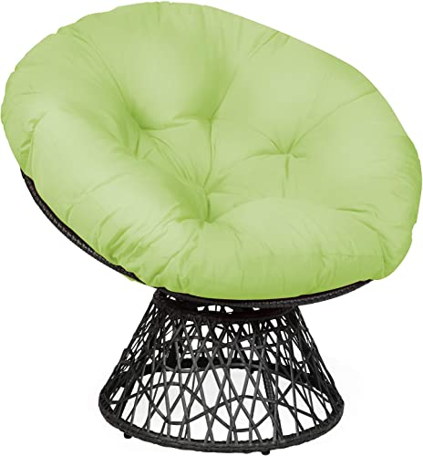 2021 Giantex Rattan Round Papasan Chair, 360-Degree online Swivel Egg Chair with Soft Cushion, Living Room Chair Leisure Chair with Black Frame Indoor Outdoor Use new arrival (Green) sale