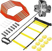 Sportout Speed & Agility trainingsset, trainingsladder, premium behendigheidsladder en kegel, weerstandsparachute, metalen...