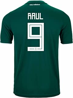 Raul #9 Mexico Home Soccer Stadium Men's Jersey World Cup Russia 2018