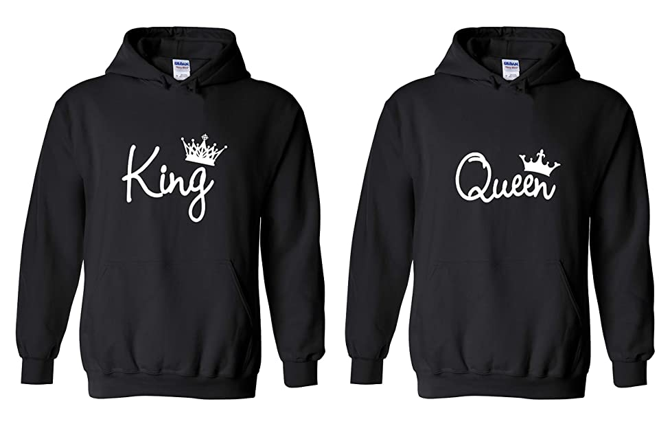 YSM Couple Hoodie - King & Queen Matching His and Her Hoodies