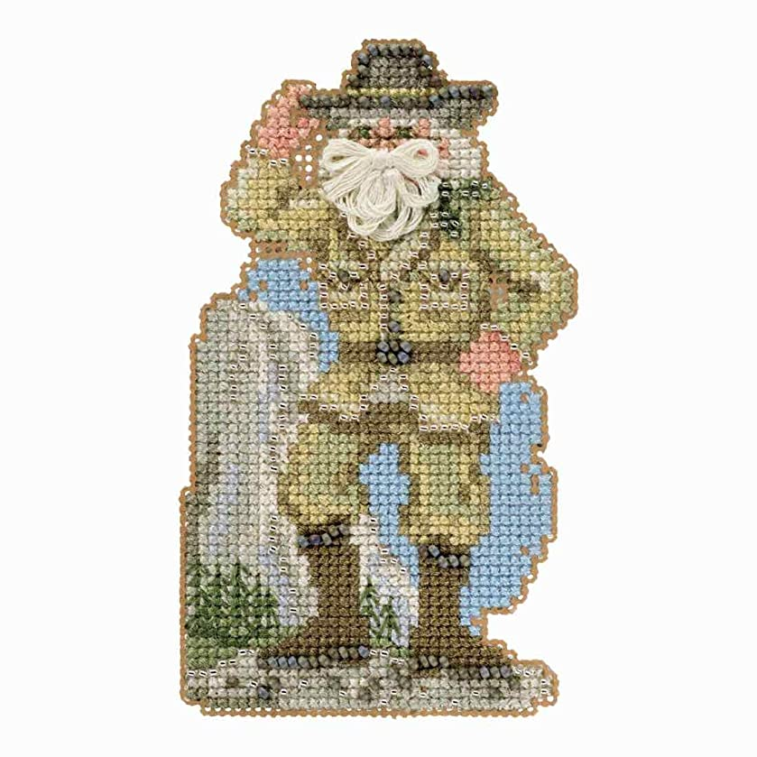 Yosemite Santa Beaded Counted Cross Stitch Ornament Kit Mill Hill 2018 National Park Santas MH201833
