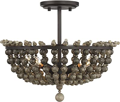 Amazon.com: Lámpara de techo de mármol E26, lámpara de techo ...