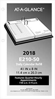 AT-A-GLANCE Daily Desk Calendar Refill, January 2018 - December 2018, 4-1/2