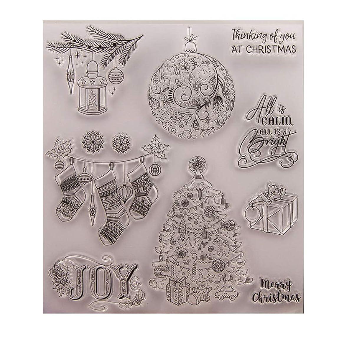 愛人レンディション塊Baoyouls クリスマスギフト、クリアスタンプ、透明クリエイティブバッジ画像ラバースタンプシールDIYアルバムクラフトスクラップブックデコレーション、カレンダー
