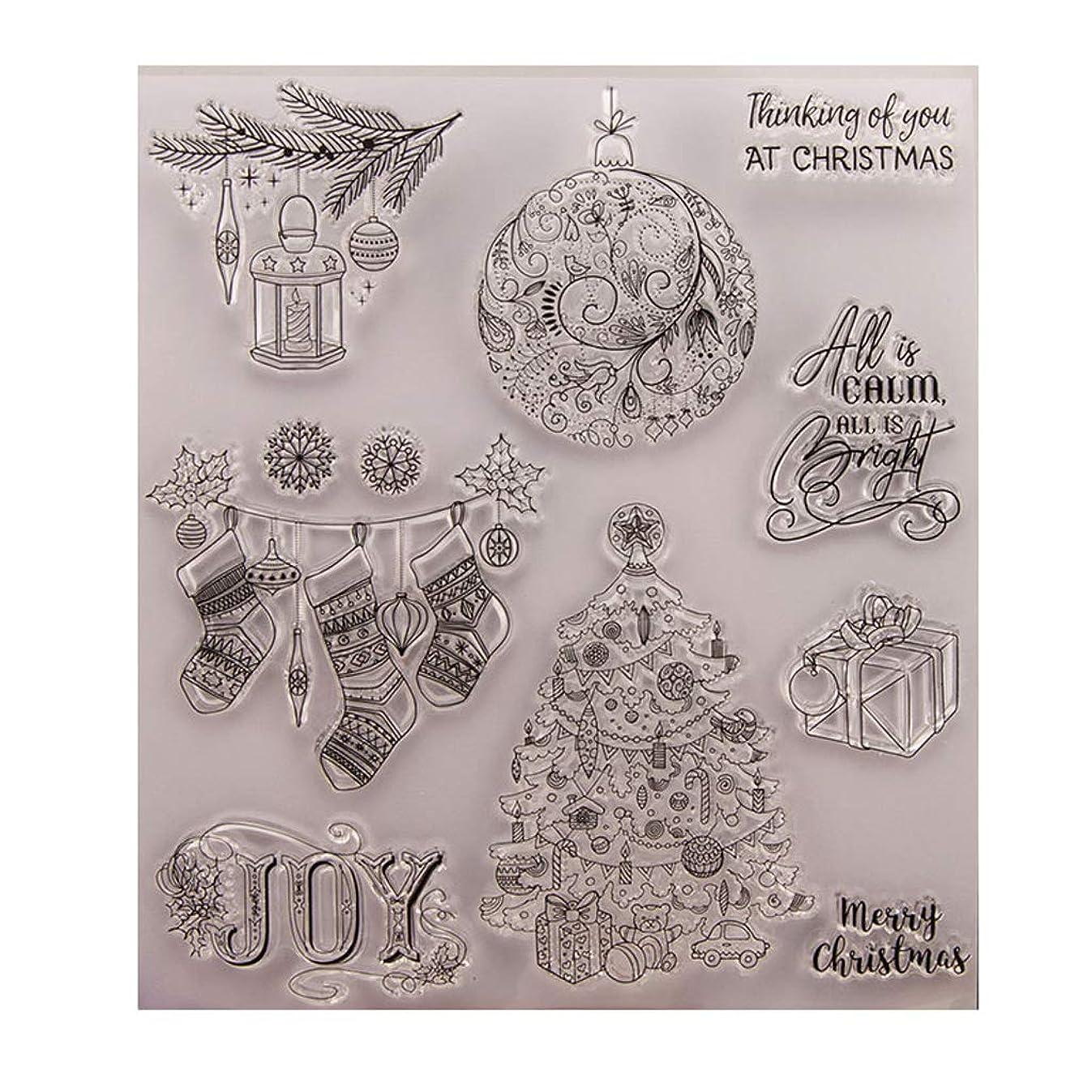 排他的コジオスコ反逆Baoyouls クリスマスギフト、クリアスタンプ、透明クリエイティブバッジ画像ラバースタンプシールDIYアルバムクラフトスクラップブックデコレーション、カレンダー