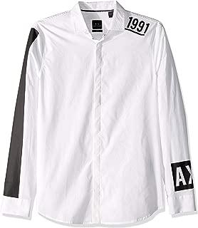A|X Armani Exchange Men's Retro Ax Button Down