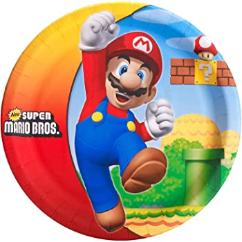 Birthday Express Super Mario Bros Party Supplies - Dinner Plates (8)