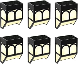 Solar Garden Lights 6 Pack Powered Fence Lights Waterproof Outdoor Wall/Step Lights/Lawn/Patio/Yard/Party/Christmas Decora...