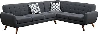 Best modern retro sectional sofa ash black Reviews