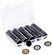 10 Pcs Display Box Case Stand Holder for Coins Collection /& Protection Black