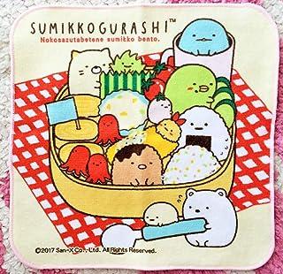 かわいい すみっコぐらし ハンカチミニ タオルしろくま ぺんぎん ねこ とんかつ とかげお弁当ランチ男女綿100%日本製