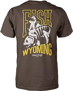 Fly Bucking Trout Fish Wyoming Fly Fishing Shirt