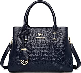 Women's Shoulder Bag Purse Leather Shoulder Bag Clutch Handbags Purse for Girls Simple Shoulder Crossbody (Color : Blue, S...