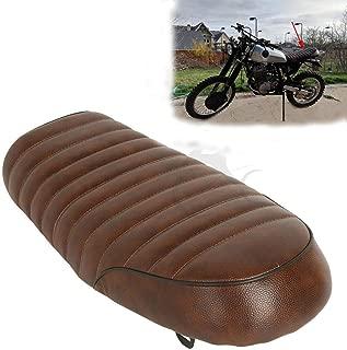 XFMT Flat Brat Brown Universal Cafe Racer Seat Vintage Saddle Compatible with Honda CB Yamaha XJ