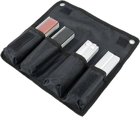 Schutzbacken rechtwinkelig; planparallel; integrierte Spezialmagnete; passend zu Schraubstock 180 mm; Material: Aluminium Heuer 109180 Schraubstockbacken
