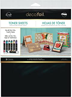 iCraft Deco Foil Toner Sheets, 8.5 Inches x 11 Inches, Black