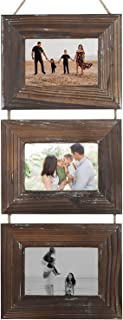 Picture Frames-Photo Frame-Rustic 4x6 Picture Frame-3 Sets (4 by 6-Inch, Nature Brown)