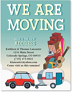 Packed Up New Address Postcards- Set of 24 Personalized Moving Cards