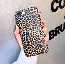 iPhone 8 Plus/iPhone 7 Plus Case, YTanazing Leopard Print Pattern Case Fashion Luxury Cheetah Ultra-Thin Soft TPU Silicone Shockproof Cover for iPhone 8 Plus/iPhone 7 Plus