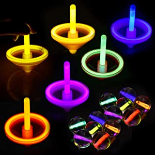 12 Pack Glow Stick Party Favors Bulk(Including Bouncy Ball, Spinning Top and Small Glow Stick)for Halloween Party Favors, Glow in Dark Party Supplies