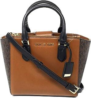 d65387153043 Michael Kors Women s Carolyn Small Leather Tote Crossbody Bag Purse Handbag