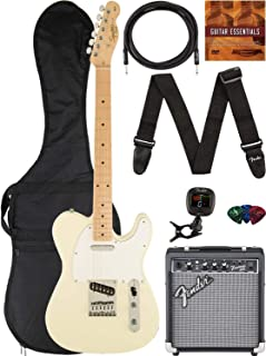 Best Fender Squier Affinity Telecaster - Arctic White Bundle with Frontman 10G Amplifier, Gig Bag, Instrument Cable, Tuner, Strap, Picks, and Austin Bazaar Instructional DVD Review