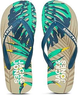 JACK & JONES Men's Jfwprint Tropical Pack Flip Flop