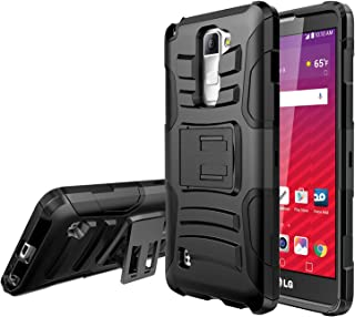 LG Stylo 2 Holster Case, REDshield [Black] Supreme Protection Hard Plastic on Silicone Skin Dual Layer Hybrid Case for LG Stylo 2, LG Stylus 2