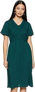 Amazon Brand - Symbol Women's Wrap Midi Dress