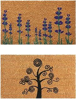 """Rubber-Cal Dirt Stopper Entry Door Coir Doormats (Set of 2), 18 x 30"""""""