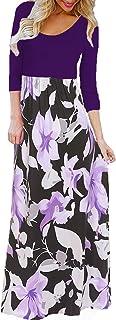BLUETIME Women's Summer Boho Sleeveless Floral Print Tank Long Maxi Dress