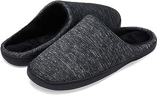 LEKUNI Femmes Hommes Chaussons Pantoufles Mémoire Mousse Souple Dames Maison Chaussures d'hiver Chaud Intérieur Pantoufles...