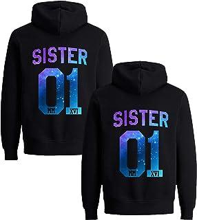 aac9c48c025da3 Beste Freunde Pullover für Zwei Mädchen Best Friends Hoodie BFF Pullover  Sister Kapuzenpullover Damen Pulli Geburtstagsgeschenk
