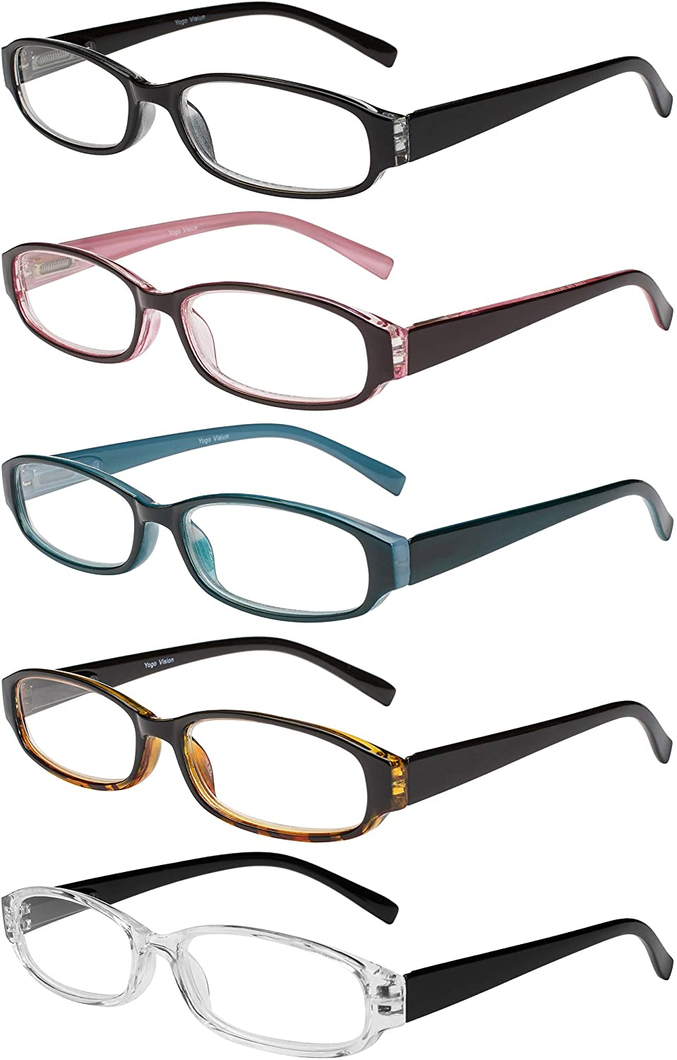 Reading Fashion Glasses 5 Pairs low-pricing Spring Quality for Readers Hinge Fashion