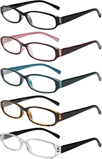 Reading Glasses 5 Pairs Spring Hinge Fashion Quality Readers for Men and Women