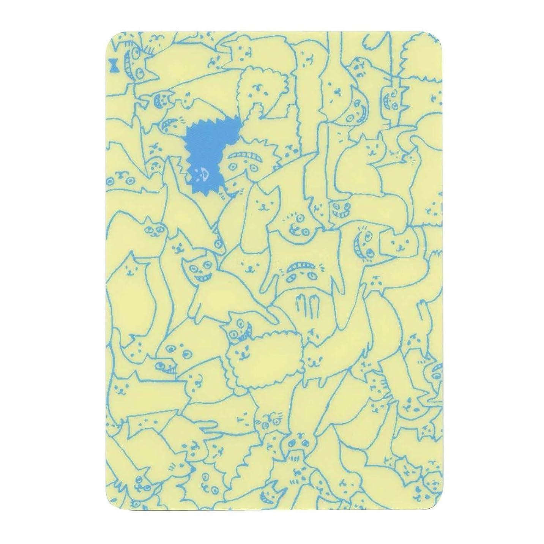 結婚式今日蜜AIUEO A6 手帳用下敷き【ネコパズル ブルー】 ASJS-05