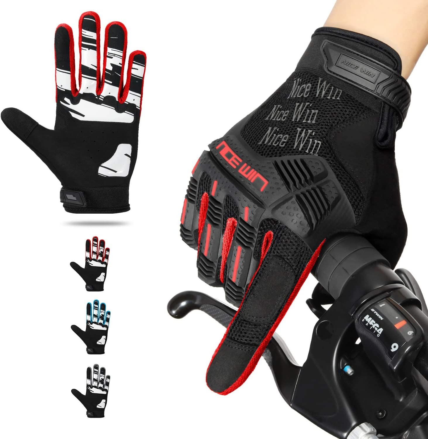 Details about  /Bike Riding Full Finger Glove Racing Motorcycle Gloves Cycling Bicycle BMX MTB