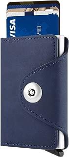 Yizenge RFID Blocking Minimalist Wallet Slim Leather Trifold Wallets Credit Card Holder Wallets for Men Women
