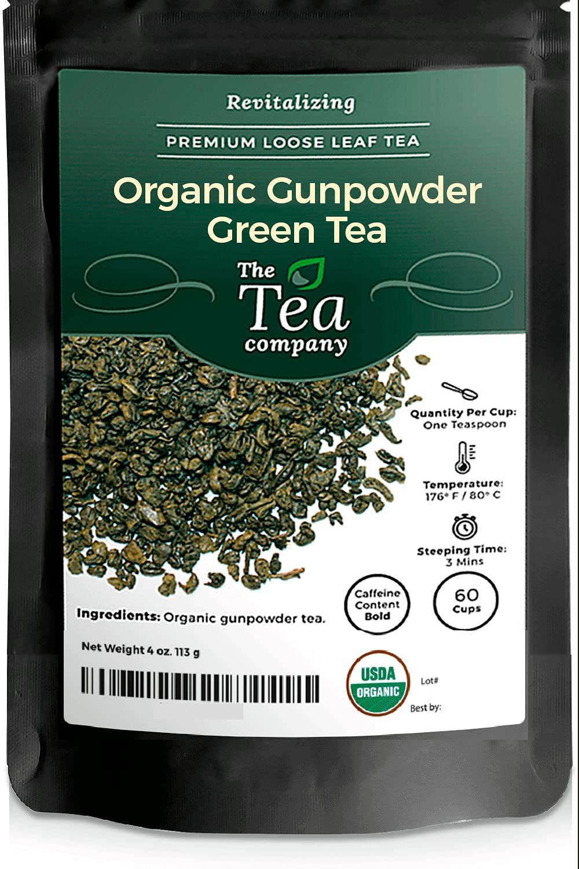 Organic Gunpowder Green Tea Loose Popular products Rolled Pinhead Pelle Max 86% OFF Leaf Into