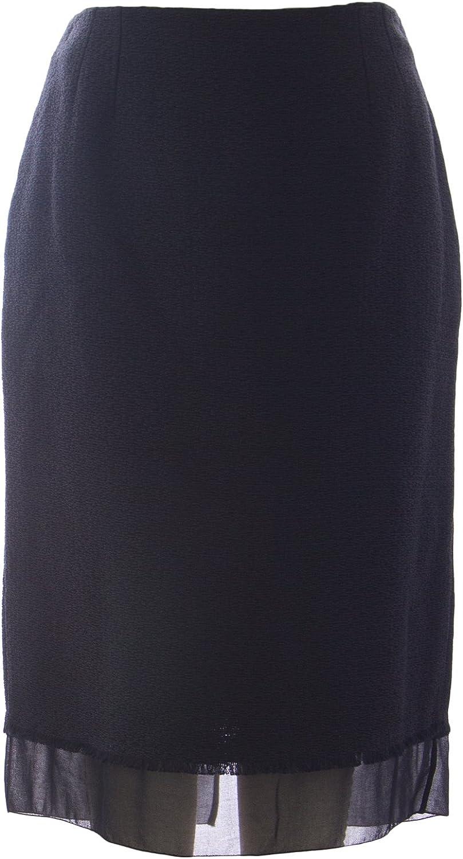 Marina Rinaldi Women's Canazei Sheer Detail Knit Skirt Black