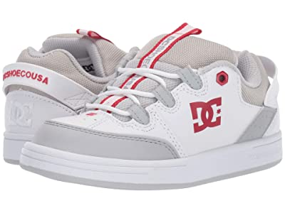 DC Kids Syntax (Little Kid/Big Kid) (Grey/Red) Boys Shoes