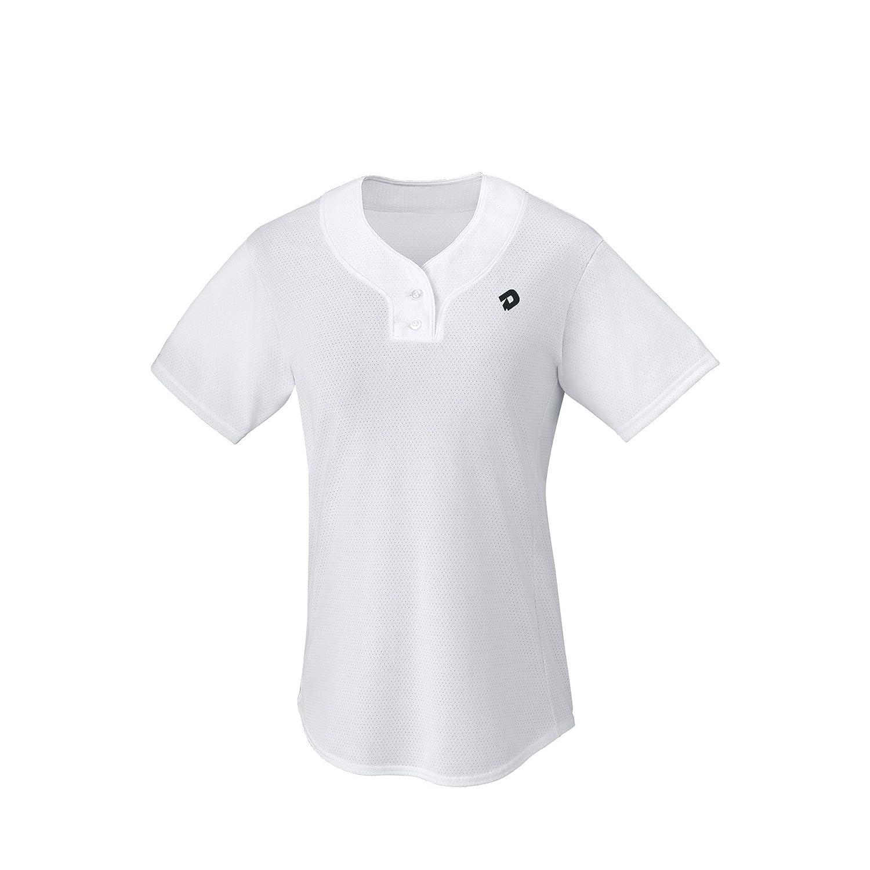 Medium DeMarini Girls T600 2-Button Athletic Feminine Fit Placket Pullover Black